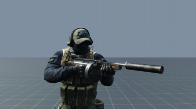Right Handed Submachinegun