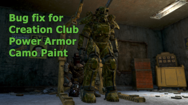 Bug fix for Creation Club Power Armor Camo Paint