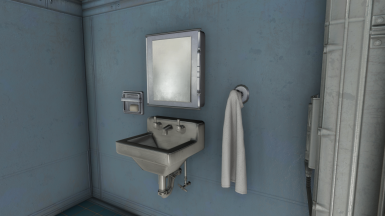 Standard Lavatory: Mirror and Sink