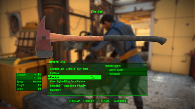 Fire Axe A Standalone Melee Weapon At Fallout 4 Nexus