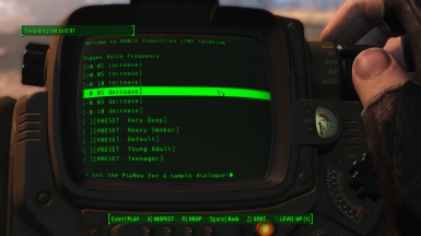 Player Voice Frequency Slider (PVoFS) at Fallout 4 Nexus - Mods and