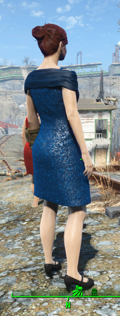 Dark Blue Sequin Dress Retexture