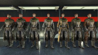 Gunmetal Armor Skins - Leather Coat pack.