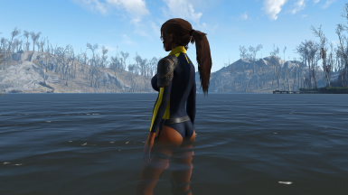 Wearing Lara's Wetsuit by Ousnius