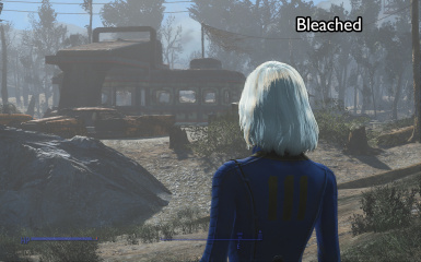 bleached back