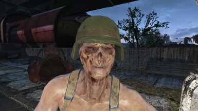 Realistic Ghoul Face Textures