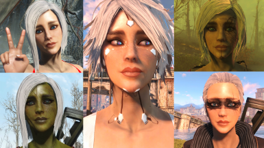 The Faces of Sarah - Preset Variations for Roleplaying Builds or Companions (HiPoly Faces Compatible)
