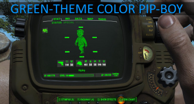 Radrose Gameplay Enhancements and Green theme Color Pip-Boy