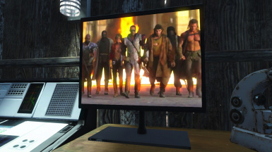 Version 4 - Custom screen 12 - Do you know what this movie is? Is the the movie Cyborg (Van Damme). Do you like Fallout? See this movie. I'm pretty sure Fallout creators like this film :)