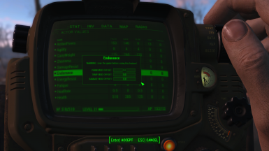 Pip-Boy: Edit Actor Value