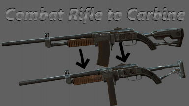 combat rifle to carbine at fallout 4 nexus mods and community