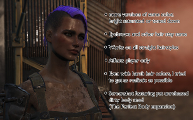 Hair Dye Mod - Separate hair and eyebrows  color