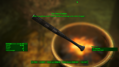 Unique baseball bat at Mysterious Statue (Discoverable Statues version only)