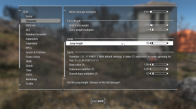 Game Configuration Menu