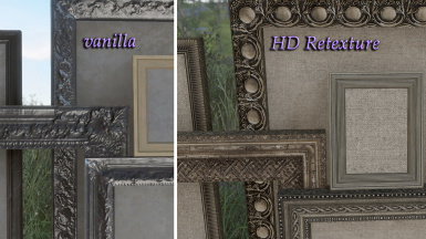 close up - Pre-War Frames and Canvas - ingame comparison