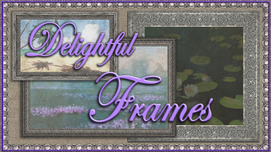 Delightful Frames - HD Frame Retextures for Paintings (pre and post-war) 2K