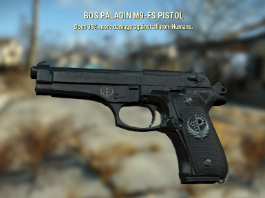 Beretta M9-FS Pistol (92FS) at Fallout 4 Nexus - Mods and