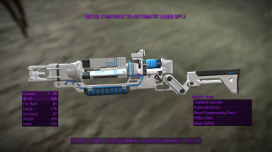White And Blue Laser Rifles