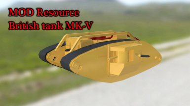 MOD Resource British tank MK-V