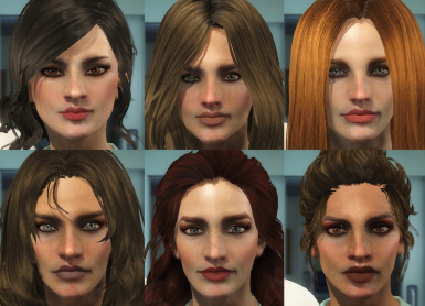Some Female Face Presets