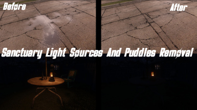 Sanctuary Light Sources And Puddles Removal (ESL Support)
