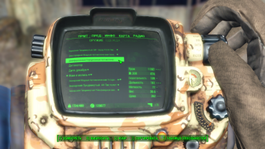 Example of translate in pip-boy menu the description of firearms 1