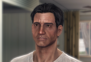 Modded Nate during dialogue