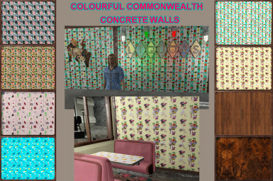 Colourful Commonwealth - Concrete Walls and Steps Recolours