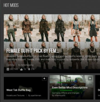 Front Page Hot Mods-Thanks Everyone