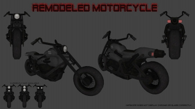 Motorcycle Color Re-texture plus Optional Meshes
