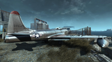 Fighter Jet - Settlement Object and Modder's Resource
