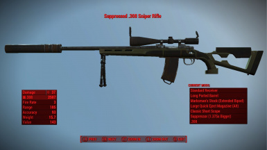 Bigger Suppressor, Classic Scope, and Extended Bipod