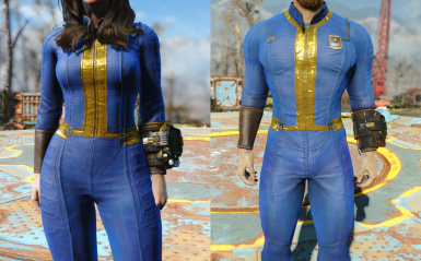 Fitted Vault Suits (Vanilla Male and Female)