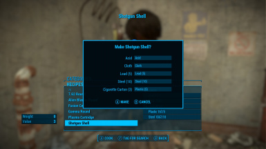 Fallout 76 Style ammo crafting