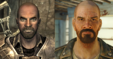 To my surprise, apparently Jericho is 65 years old in Fallout 3, so I made sure to add a bunch of wrinkles to him. He's still got the same old frown.