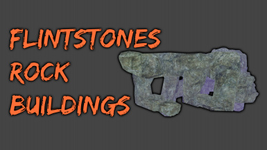Flintstones - Rock buildings and furniture