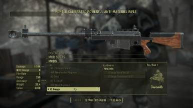 Anti Material Rifle New Calibers patch