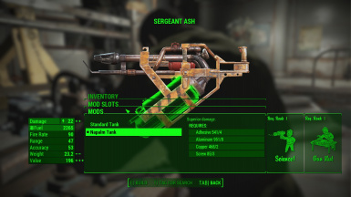 Flamer Weapon Mods With Perk Requirements