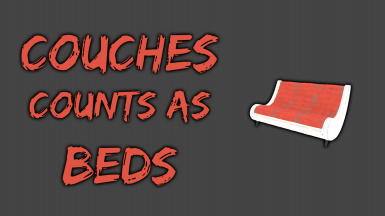 Couches count as beds