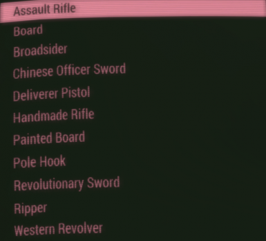 Realistic Weapon Names by CassandraMJT