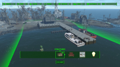 Large build area, over the water. For all your shantytown needs.