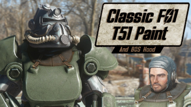 Classic Fallout 1 T51B Paint and Hood