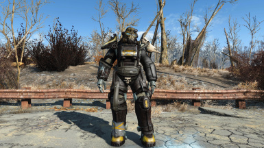Tribal Power Armor and Metal Blaster (FO3 Classic)