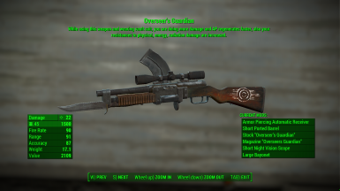 VUWR - Vanilla Unique Weapons Remastered at Fallout 4 Nexus