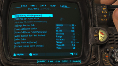 Weapons with dynamic name sorting