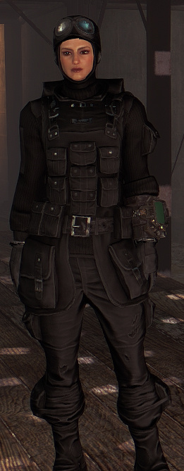 Field Scribe Uniform and Hat Black Re-color