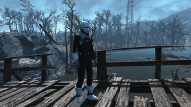 Synth Armor Recolor - White-Black
