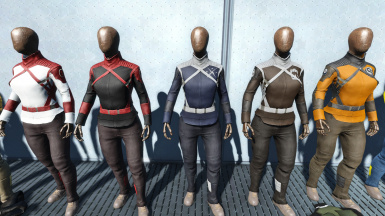 Synth Uniforms Skins - A Gunmetal Armor Skins Pack