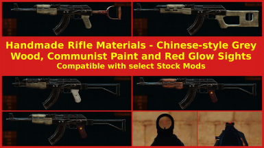 Handmade Rifle Materials - Chinese-Style Grey Wood - Communist Paint - Red Glow Sights
