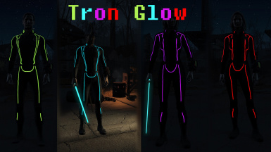 Tron Inspired Vault Suit Retexture - Glow Maps FOMOD
